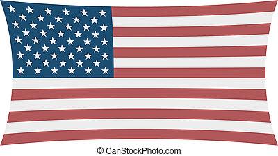 the Stars & Stripes - Four corners USA Flag
