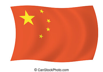 China - Chinese flag - China - Simple Floating Chinese Flag