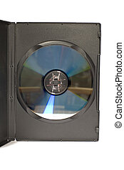 DVD Box - series object on white -close up- DVD Box