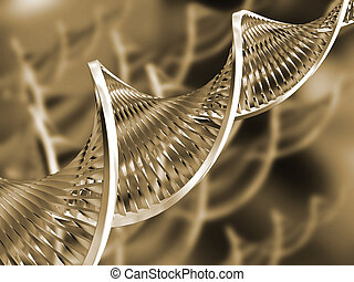 DNA abstract - DNA strands on abstract background