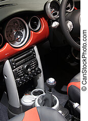 interior of a car - interior (dash board) of a sport car -...