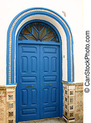 Blue Door in Morocco