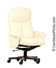 Off-white luxury office chair - Off-white, leather luxury...