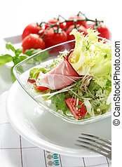Diet food - Small salad as a started, low calorie