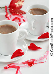 Coffee for two - Two cups of coffee, Valentine motive