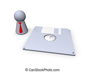 safe as - play figure with red tie and floppy