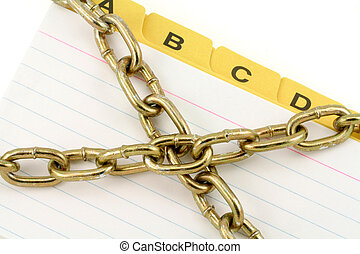 information security - file divider and chain , concept of...