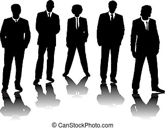 office people - A small group of business people in black...