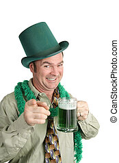 St Patricks Day Party - A drunk Irish American man at a St....