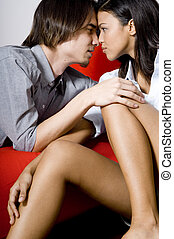 Young Lovers - A beautiful young asian woman with great legs...