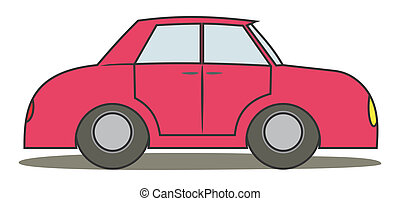 Red car