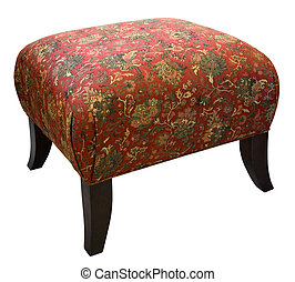 Ottoman  - Traditional Style Ottoman with Cherry Wood Legs
