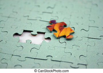 Jigsaw - Color Bit (Shallow DOF) - Close up of a Jigsaw with...