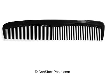 Black Comb - Black comb on a white background.