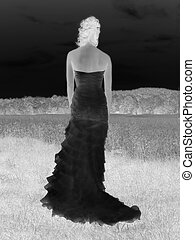 negative bride - negative representation of bride looking...
