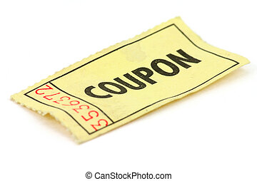 yellow ticket - A yellow ticket on white background