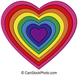 Pride Heart - Heart shaped rainbow flag