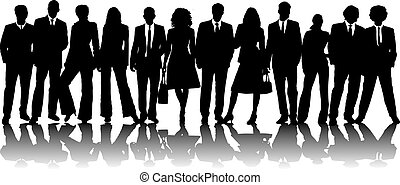 mixed business people - A large group of business people in...