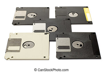 diskette - series object on white: isolated - floppy disk