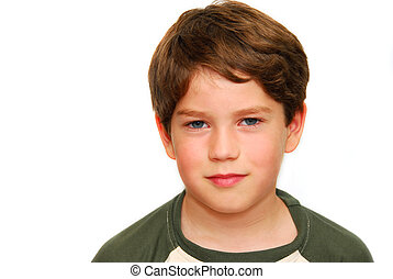 Cute boy - Portrait of a cute boy on white background
