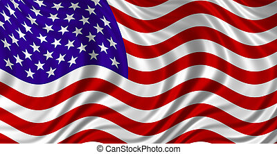 the Stars and Stripes - Floating Free USA Flag