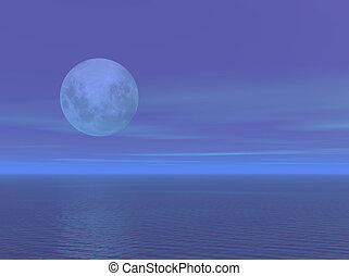 Moonlight - A calm ocean with gentle moonlight