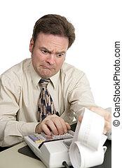 contabilidad, serie, -, malo, noticias
