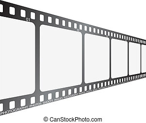 film looking along - A section of film looking along its...