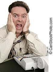 Accounting Series - Shock - A humorous photo of a very...