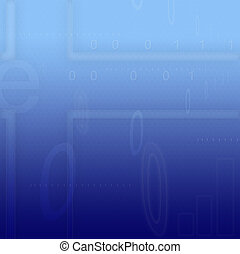 Abstract background - Computer designed abstract binary code...