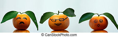 orange face - some facial expressions of orange face.