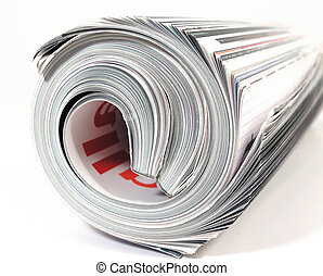 mag - isolated magazine roled up
