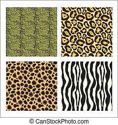 Animal prints - set of different animal prints