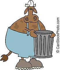 déchets, vache