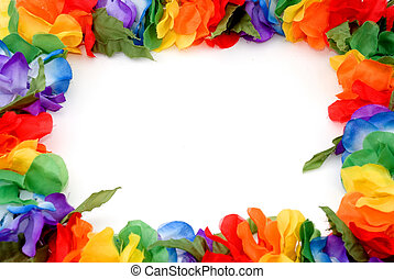 lei border - a colorful border made of a hawaiian lei