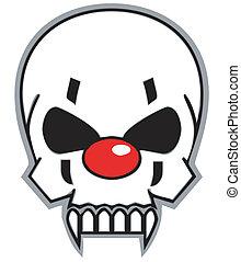 clown skull - evil clown skull