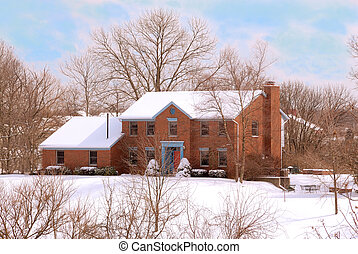 Beautiful Home in a Secluded Country Setting - a brick home...