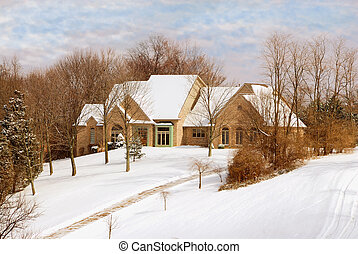 Private Home in the Countryside in Winter - Private two...