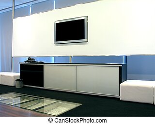 Office meeting room - A modern-looking office meeting room...