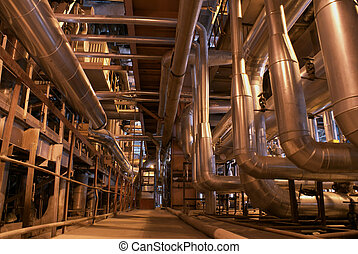 inside o f plant - power plant, heavy industry