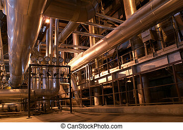 inside of plant - power plant, heavy industry