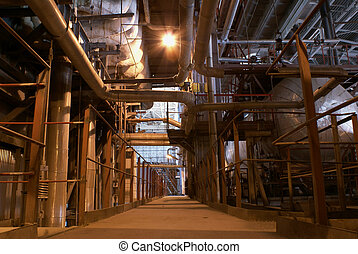 power plant, heavy industry