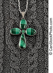 Stylized malachite fourleafed clover - Stylized under...