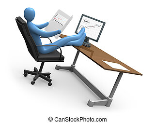 Successful Business #2 - Computer generated image -...