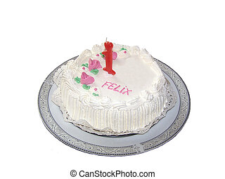 Bityhday cake - a nice white birthday cake showing that...