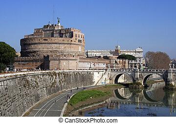 Castel Sant\\\'Angelo - Original mausoleum of Hadrian and a...