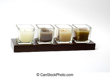Four candles - Four modern candles from a contemporary home