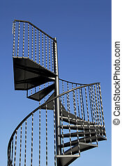 Steel Staircase - black wrought iron spiral staircase...