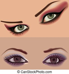 Eyes vol.3 - High detailed vector illustration.