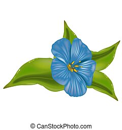 Blue Flower 02 - High detailed illustration